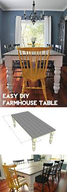 Diy Farmhouse Dining Room Table 20 Stunning Diy Farmhouse Tables For Rustic Decor
