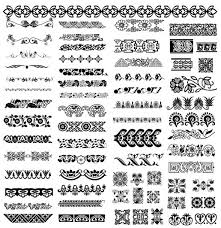 ornamental seamless borders vector ai format free vector