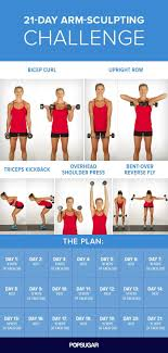 Challenge Not Working Sculpt And Strengthen Your Arms With This 3 Week Challenge Arm