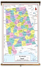 Map Alabama Alabama State Political Classroom Map From Academia Maps