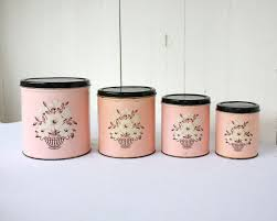 vintage kitchen canister set canisters extraordinary pink canisters vintage kitchen canister