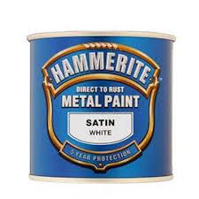 Exterior Metal Paint - hammerite white satin exterior metal paint 250ml at homebase co uk