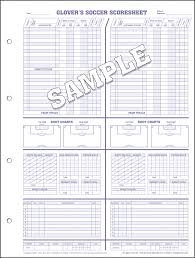 glover u0027s soccer scorebooks