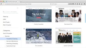 selecting a wix template youtube