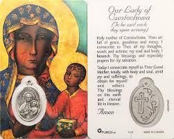 prayer card our of czestochowa prayer card