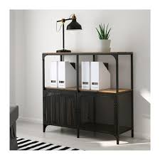Ikea Expedit Police Regal Za Fjällbo Shelf Unit Black Rustic Shelves Solid Wood And Shelves