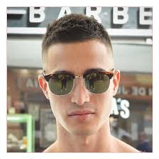 mens short haircuts for fine hair and high fade with crew cut