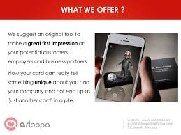 What Makes A Great Business Card - arloopa make your business card alive