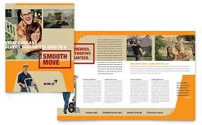 movers u0026 moving company brochure template design