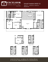 schult freedom 6432 13 excelsior homes west inc