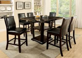 Marble Dining Room Table And Chairs Furniture Of America Dark Cherry Finia 7 Piece Counter Height