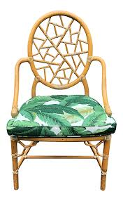 Rattan Accent Chair Vintage Used Rattan Accent Chairs Chairish