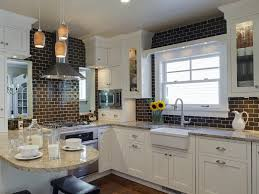kitchen terrific black and white kitchen design with white