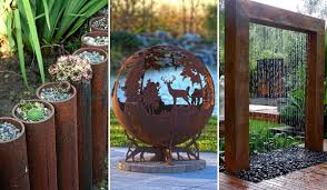 Diy Backyard Landscaping by 20 Amazing Diy Ideas For Outdoor Rusted Metal Projects Amazing