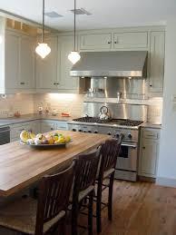 brick backsplashes for kitchens faux brick backsplash kitchen traditional with butcher block