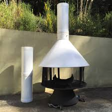 white malm indoor outdoor carousel fireplace for sale it has 3
