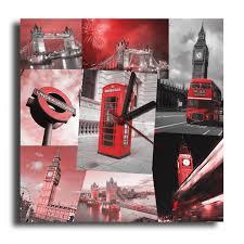 Horloge Murale Rouge by Tableau Horloge London Big Ben Rouge Design Moderne Pendule