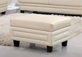 meridian furniture ferrara 655be ott modern beige bonded leather