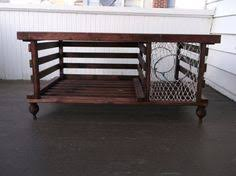 Lobster Trap Coffee Table by Lobster Trap Coffee Table Wine Rack