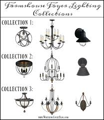 Light Fixture Collections Farmhouse Style Foyer Makeover Update Lighting Options