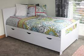 hand crafted twin bed with storage by kbj woodworks custommade com