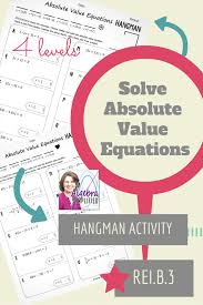 absolute value equations hangman common core standards core