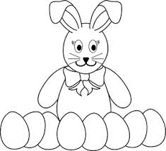 easter coloring page clipart image easter bunny coloring page