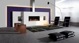 Embellish Home Decor by Super Modern Sofa Option With Modern Fire Place Design And