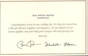 wedding message card wedding card from the white house lgf pages