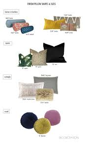 how to choose throw pillows sizes and shapes on the blog