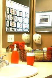 orange bathroom ideas burnt orange and grey bathroom best burnt orange bathrooms ideas