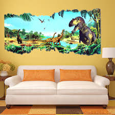 3d jurassic world park dinosaur wall sticker kids room decal mural 3d jurassic world park dinosaur wall sticker kids