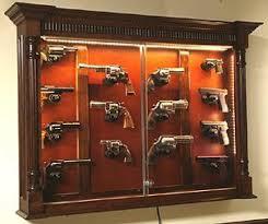 Display Cabinet With Lighting The Woodloft Illinois Amish Custom Crafted Pistol Display