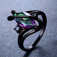 fire rings jewelry images Oval stone rainbow fire ring magick jewelry jpg