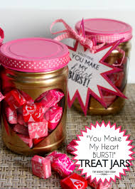 starburst valentines made from peanut butter jars angie jimenez