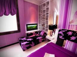 trendy purple themes teen bedroom decorating added purple floral