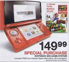 nintendo 3ds black friday nintendo 3ds black friday 2012 best deals from target kmart