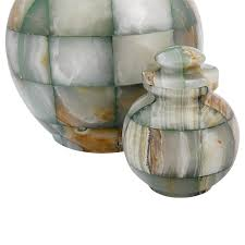 small urn mosaic green onyx small urn for ashes