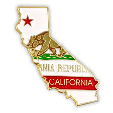 California State Flag Amazon Com Pinmart U0027s State Shape Of California And California
