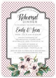 Wedding Invitations With Menu Cards Wedding Rehearsal Dinner Invitations Retro Polka Dots U0026 Flowers