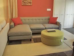 Orange Sleeper Sofa Furniture Brown Sectional Sleeper Sofa With Red Cushions And