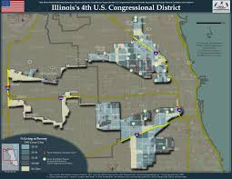 Illinois District Map by Illinois U0027s 4th Congressional District Politicalhumor