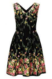 sugarhill boutique breann floral border print prom dress
