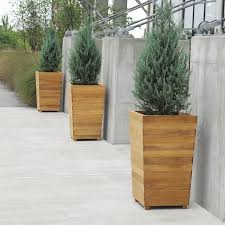 Tall Plastic Planters by Teak Planters Studio 36 In U0026 Plastic Liner Country Casual