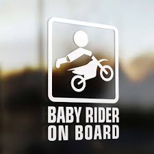 infant motocross boots baby motocross rider on board sticker baby on board sticker this