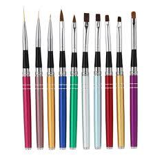 professional 10pcs nail art design polish brush pen set nylon