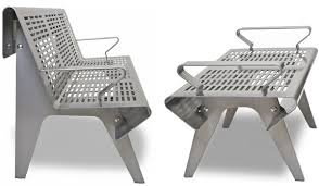 Steel Outdoor Bench Perforated Steel Outdoor Bench By Landscape Forms
