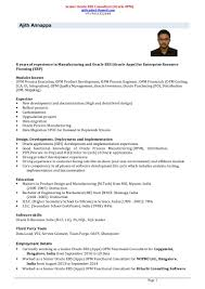 ajith annappa resume oracle apps exp 8 years
