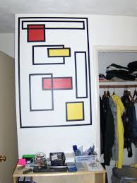 how to create wall art with electrical tape 6 steps with pictures
