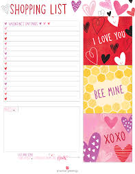 s day shopping printable s day shopping list american greetings